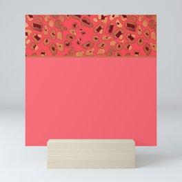 Leopard & Pink Mini Art Print