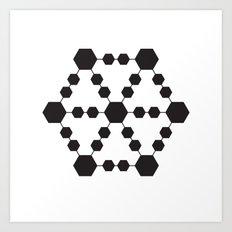 Jugglers Metatron Black Art Print