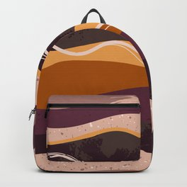 Abstract waves hand drawn illustration pattern Backpack
