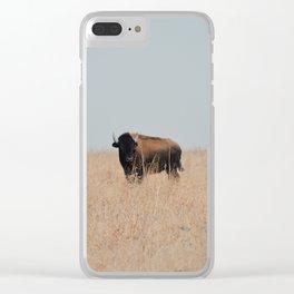 Lone Prairie Bison Clear iPhone Case