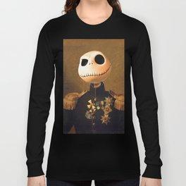 Jack Skellington General Portrait Painting   Fan Art Long Sleeve T-shirt