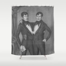 Chang and Eng Bunker - Siamese Twins Portrait Shower Curtain