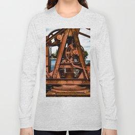 The Old Rusty Ship Crane Long Sleeve T-shirt
