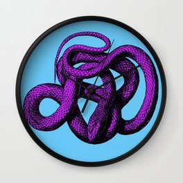 Snek 4 Snake Purple Blue Wall Clock