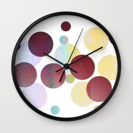 Dots in Pink Texture Wall Clock
