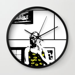 Sunflower Girl Wall Clock