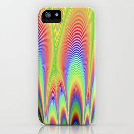 Fractal Rainbows iPhone Case