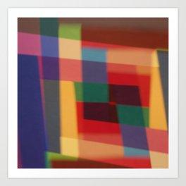 Colored blur background 5 Art Print