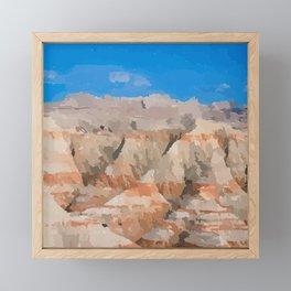 Badlands of South Dakota | Badlands National Park  Framed Mini Art Print