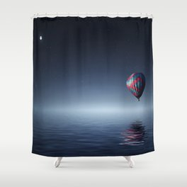 Hot Air Balloon Over Water Shower Curtain