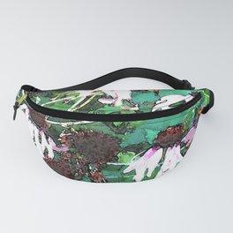 Watercolor Echinacea Fanny Pack
