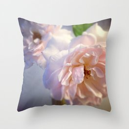 Luna Rosas Throw Pillow