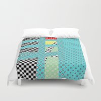 dots Duvet Covers featuring DOTS by  ECOLARTE