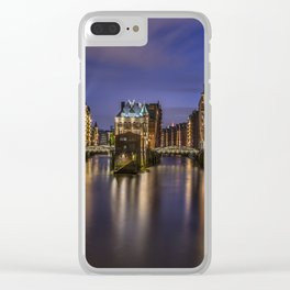 Hamburg At Night Clear iPhone Case