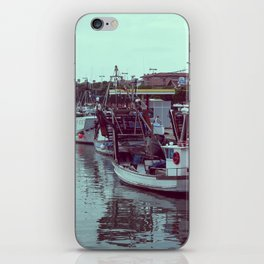 Boats in the blue lagoon iPhone Skin