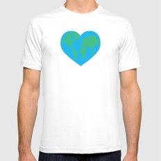 Earth Love MEDIUM Mens Fitted Tee White