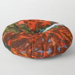 Autumn canoeing Floor Pillow