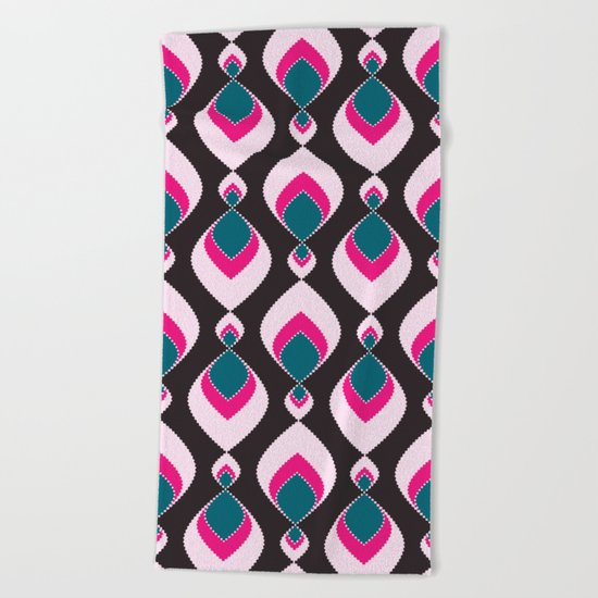 Multi-colored pattern . Beach Towel
