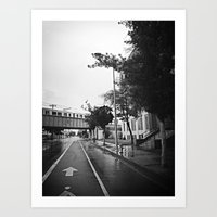 A street in L.A Art Print