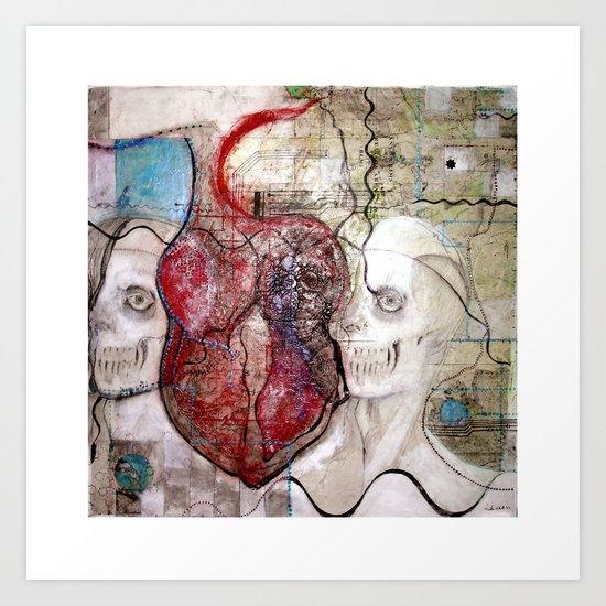 One Heart Art Print