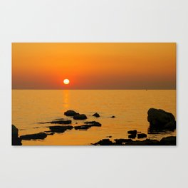 evening beach Canvas Print