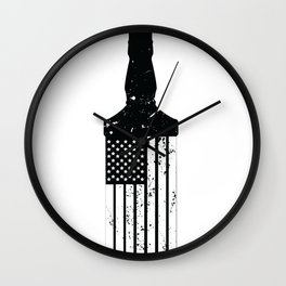 Whiskey American Flag Wall Clock