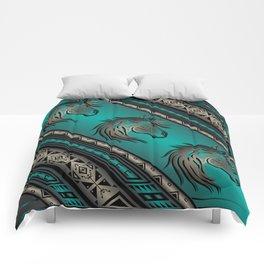 Horse Nation (Aqua) Comforters