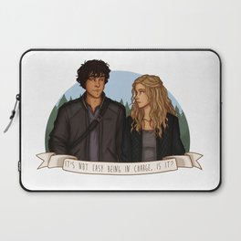 It's not easy being in charge, is it? Laptop Sleeve
