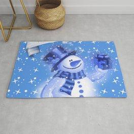Snowman Christmas Greeting  Rug