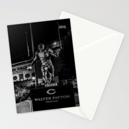 Walter Payton Statute at night Stationery Cards