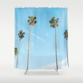 Palm Tree Morning Shower Curtain