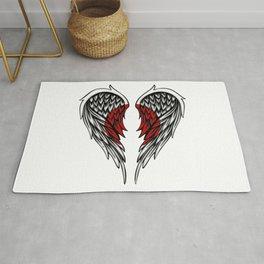 Japanese wings art Rug