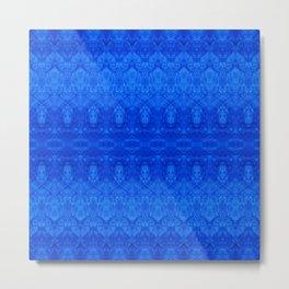 Dark Blue Grunge Metal Print
