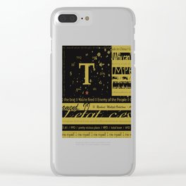 True Flag Clear iPhone Case