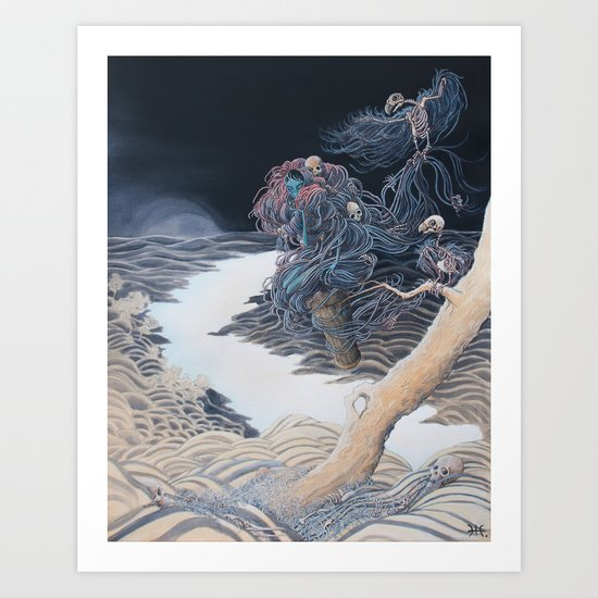Starry Yaga Land Art Print