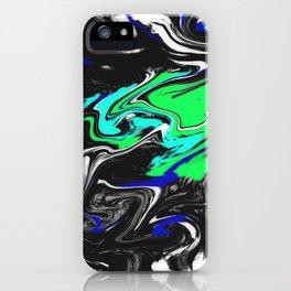 Glitch Swirly Marble iPhone Case