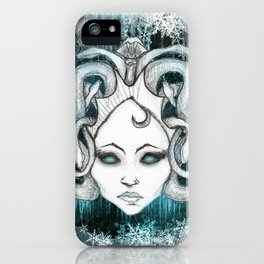 Winter Gorgon - Dark iPhone Case