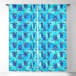 Watercolor Sea Turtles Mandalas Pattern Blackout Curtain