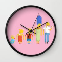 simpsons Wall Clocks featuring  The Simpsons by LOVEMI DESIGN