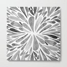 Symmetric drops - black and white Metal Print