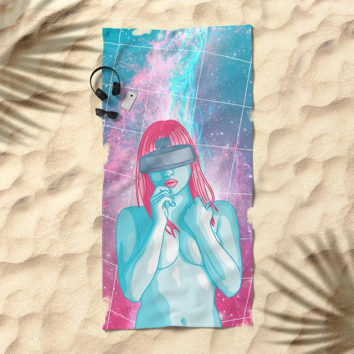 Retrofuturism Beach Towel