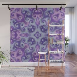 Pink and Purple Pastel Square 1 Wall Mural