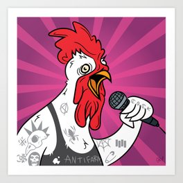 Punk Rock Cock Art Print