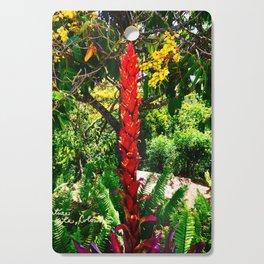 Alpinia purpurata – Red Ginger Flower, Nature in Bogota, Colombia Cutting Board