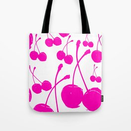 Pink neon Cherry Tote Bag