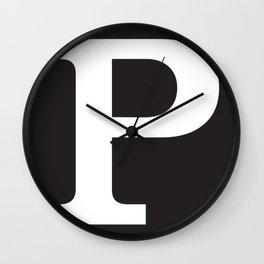 Capital P Wall Clock