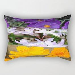 Spring Floral Collage Rectangular Pillow