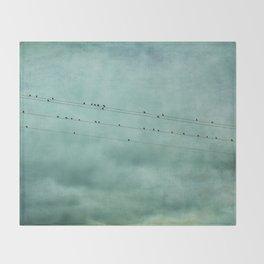 Birds on Wires Throw Blanket