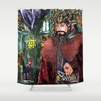 thorin Shower Curtains featuring Consort AU by NON6