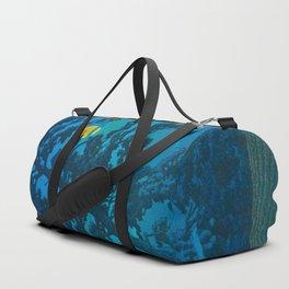 Vintage Japanese Woodblock Print Kawase Hasui Haunting Tree Silhouette At Night Moonlight Duffle Bag
